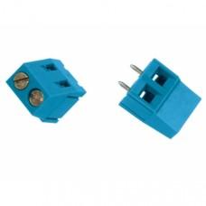 PCB terminal block 2-fold (blue)