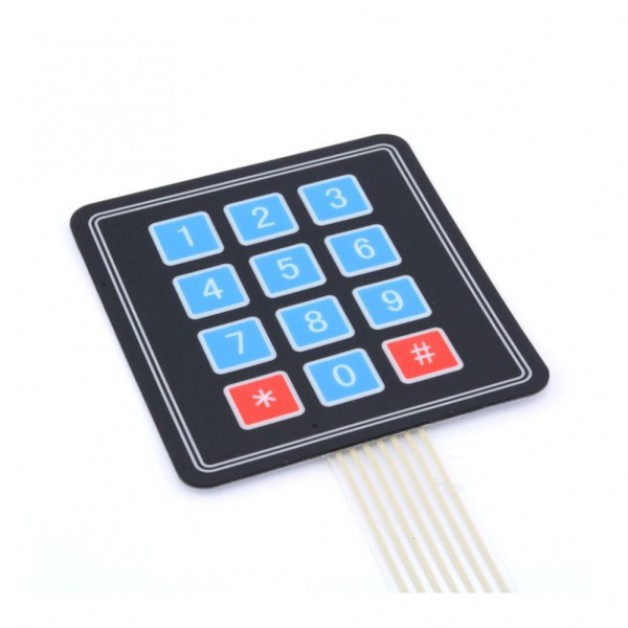 3x4 Membrane matrix keypad panel