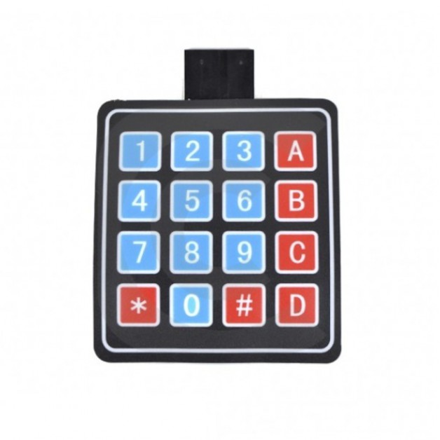 4x4 Membrane matrix keypad panel
