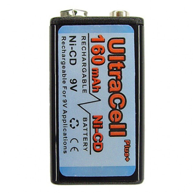 9 Volt Ultra Cell 160 mAh (rechargeable)