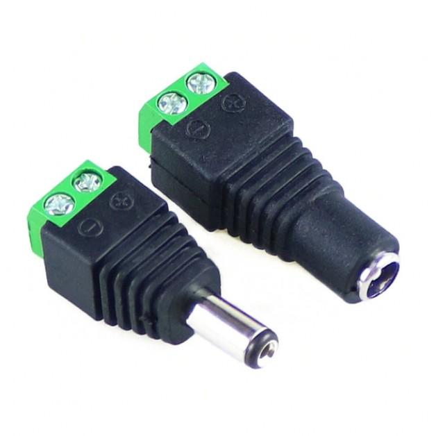 DC Plug Set (Jack Male + Jack Female)