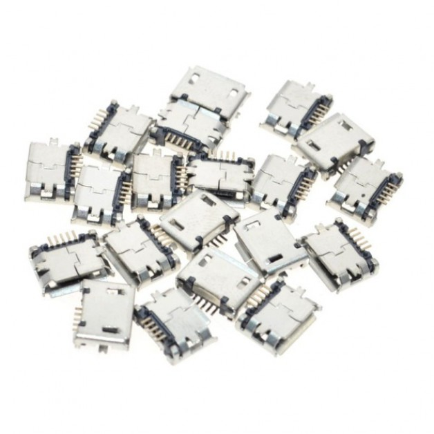 Micro USB (female) connector (SMD)