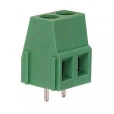 PCB terminal block 2-fold (green)