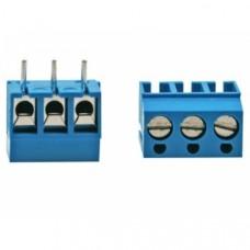 PCB terminal block 3-fold (blue)