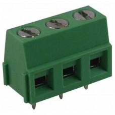 PCB terminal block 3-fold (green)