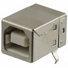 USB B (female) connector angled