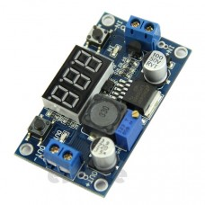 DC-DC buck converter with LCD