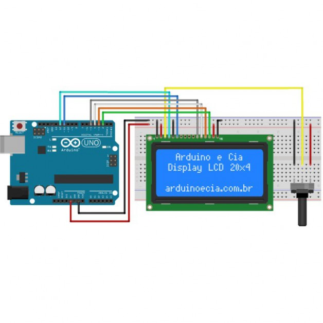 LCD Module 20x4 with Backlight (blue)