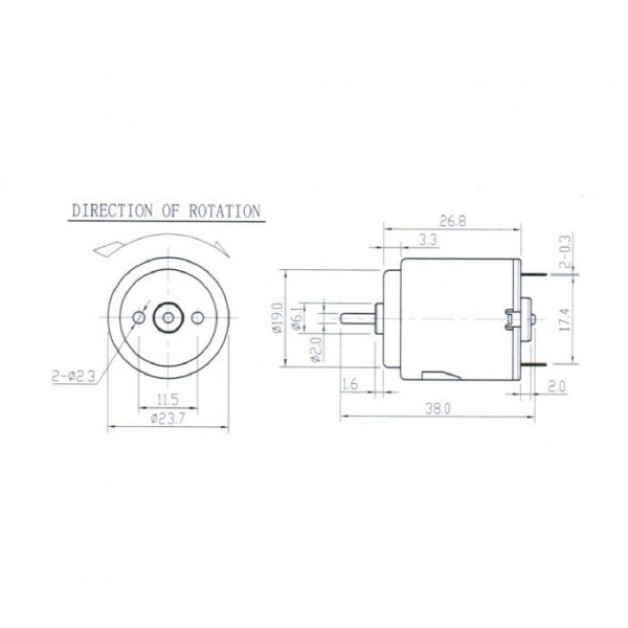 DC Motor R260