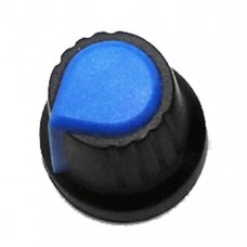 Knob for single turn Potentiometer (Blue)