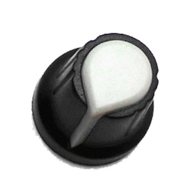 Knob for single turn Potentiometer (White)