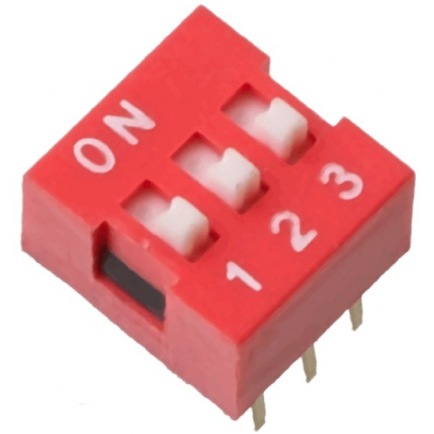 Dip Switch 3P (red)