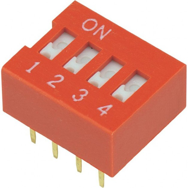 Dip Switch 4P (red)