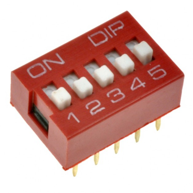 Dip Switch 5P (red)