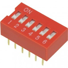 Dip Switch 6P (red)