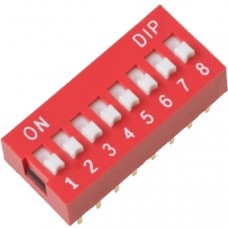 Dip Switch 8P (red)