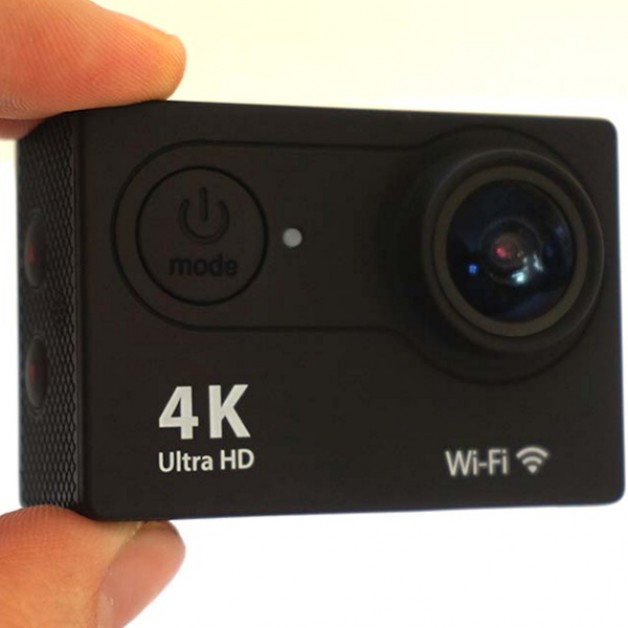 Action Camera Waterproof 4K + WiFi + Remote Control