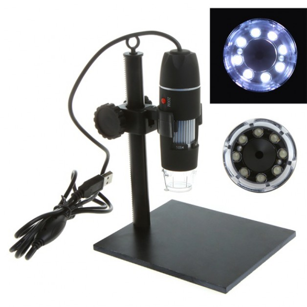 50-500x USB Microscope + LED lightning
