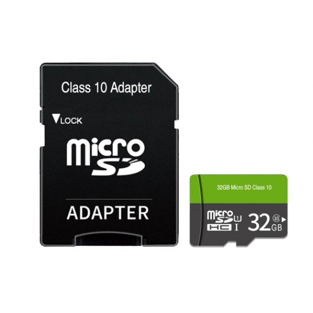 32GB Micro SD Card + SD Adapter