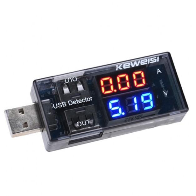 USB Volt & Ampmeter Meter (dual)