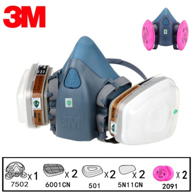 3M Half-face Safety Mask 9 in 1