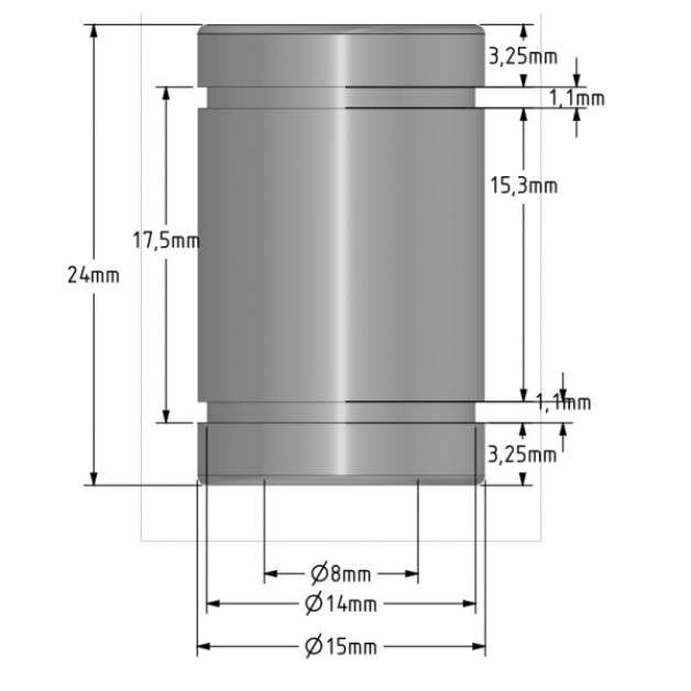 LM8UU - Linear ball bearing