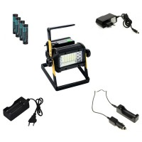 Rechargeable Portable Battery Constructionlight Set