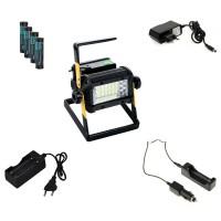 Rechargeable Portable Battery Constructionlight Set
