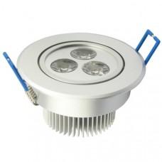 3 Watt warm white recessed spotlight