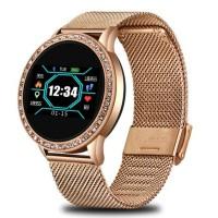 Ladies smartwatch - Rose gold inlaid with diamonds