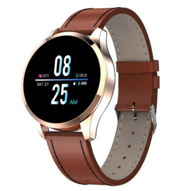 Gold / Brown Mens Smartwatch (Android / IOS)