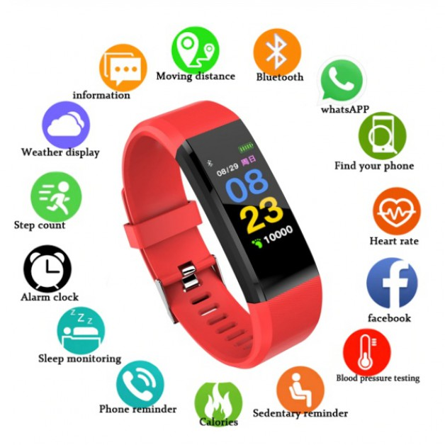 Smartwatch / Smartband (red)